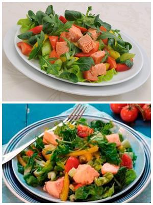 норвежский салат с красной рыбой