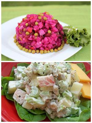 праздничные салата без мяса