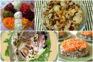 Постные салаты к праздничному столу: 10 рецептов