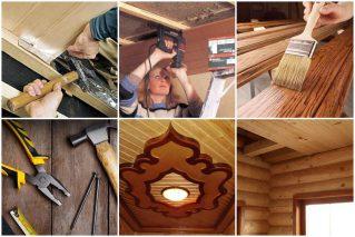 Ремонт деревянного потолка своими руками: советы мастера