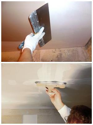 Выравнивание и шпаклевка потолка своими руками: советы мастера