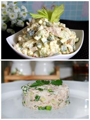 салат из копченой зубатки