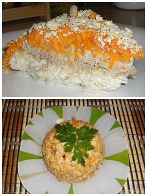 салат из зубатки с рисом
