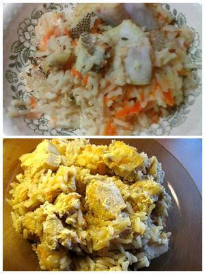 второе блюдо из зубатки с рисом