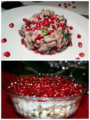 салат из двух видов мяса