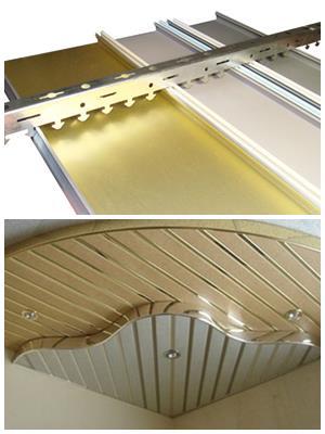 виры алюминиевых реек для потолка