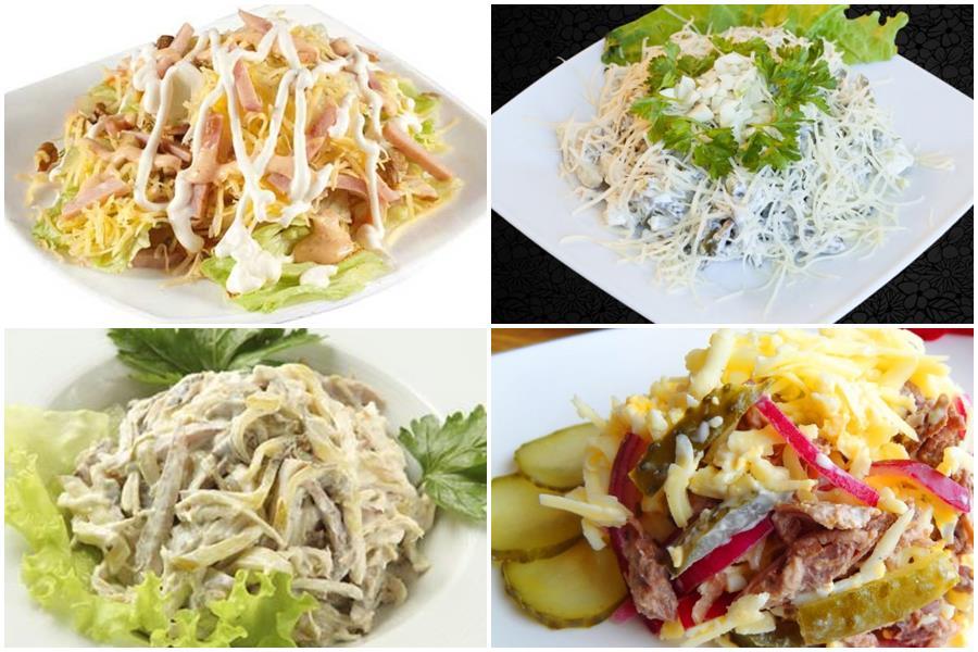 Мясной салат «Мужские грезы»: 5 рецептов, включая классический