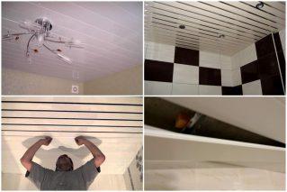 Ремонт реечного потолка своими руками