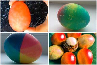 Как красить яйца на Пасху и Троицу пищевыми красителями: 11 способов