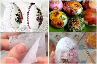 Декупаж пасхальных яиц своими руками: 3 мастер-класса для начинающих