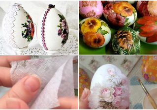 как украсить яйцо к Пасхе в технике декупаж