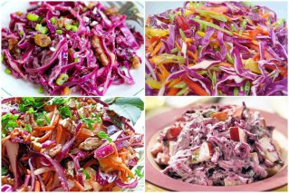 Салаты из красной капусты: 16 традиционных и необычных рецептов
