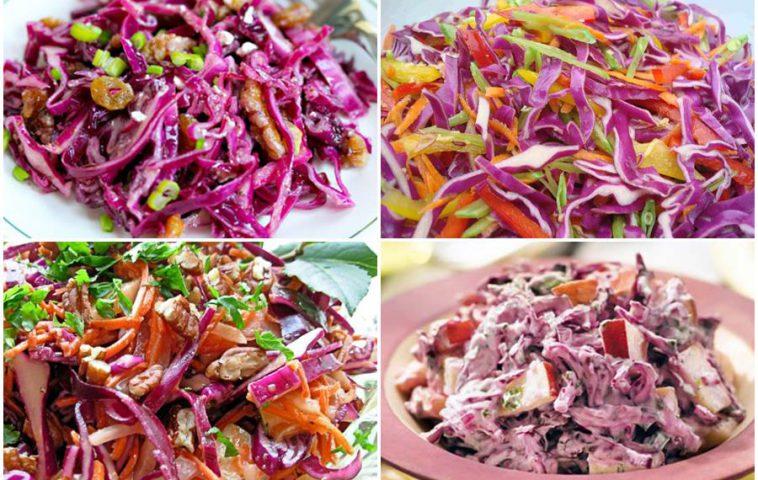 лучшие рецепты закусок из красной капусты