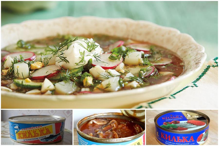 Окрошка с килькой в томатном соусе: 7 необычных рецептов