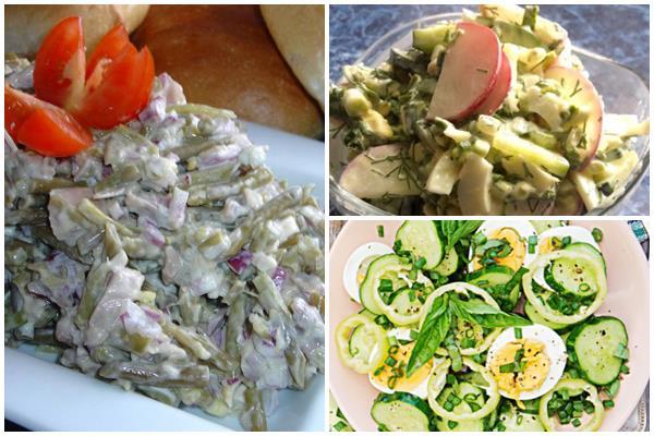 варианты оформления салата из черемши