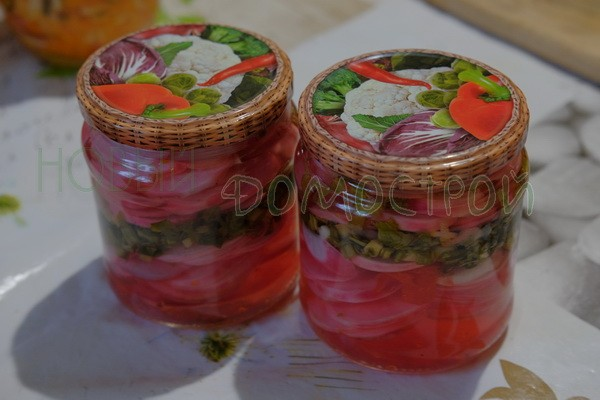 салат из редиса на зиму