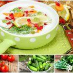 Окрошка с помидорами на квасе, кефире, сыворотке: 5 рецептов