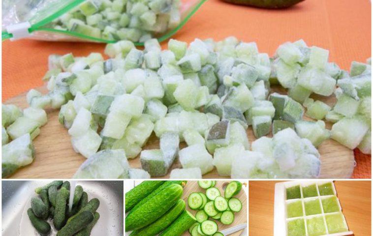 как заморозить огурцы на зиму
