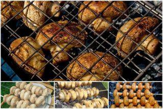 Шампиньоны на мангале на решетке и шампурах: рецепты маринада, закуски