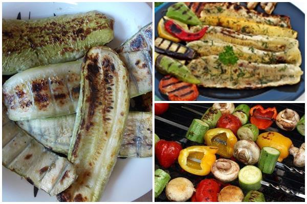 барбекю и шашлык из кабачков