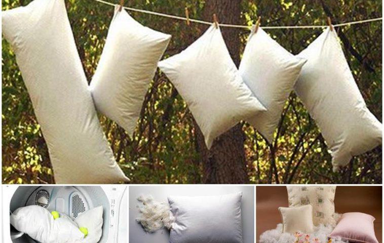 стирка подушки в домашних условиях