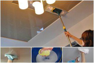 Read more about the article Как правильно мыть натяжные потолки