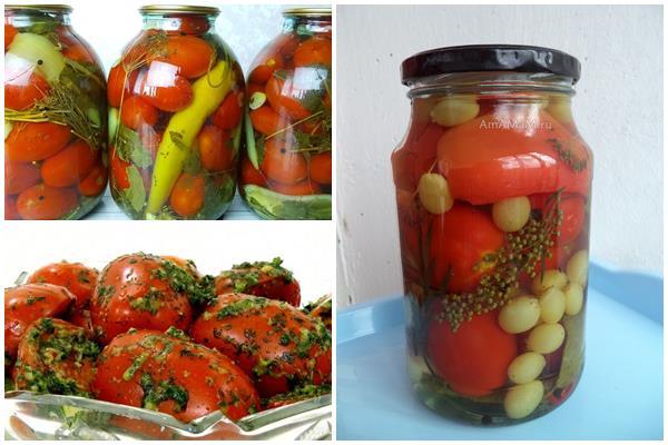 острые, сладкие томаты в пряном маринаде