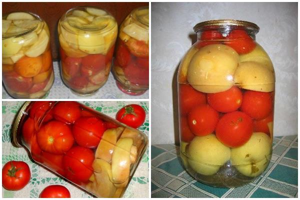маринованные с яблоками помидоры