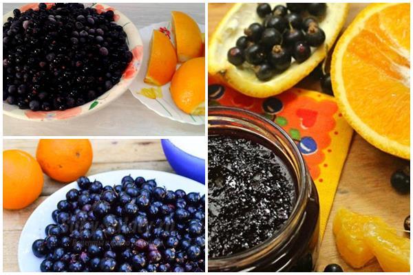 варенье с апельсинами из черной смородины