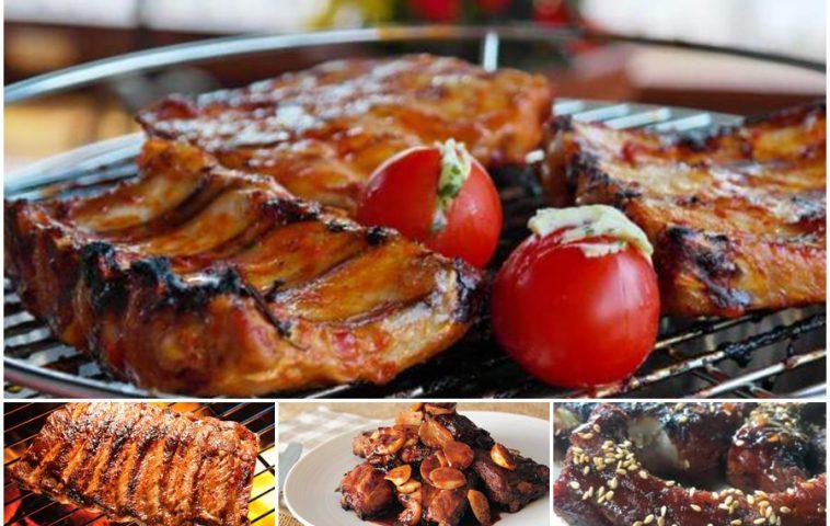 Свиные ребрышки на мангале: рецепты закусок и маринадов