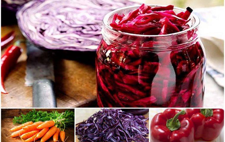 салат из краснокочанной капусты на зиму