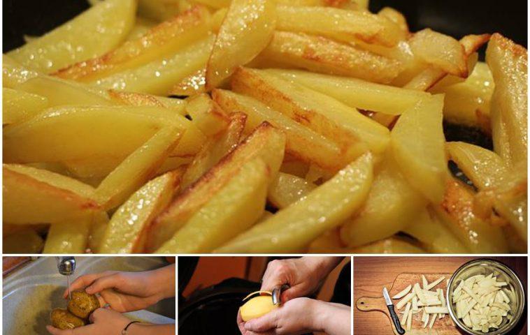 как жарить картошку на сковороде