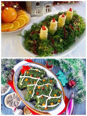 новогодний салат с брокколи