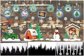 Как украсить окна к Новому году дома или в детском саду: идеи, шаблоны