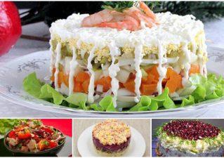 Легкие салаты на праздничный стол: простые рецепты без майонеза