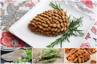 Новогодний салат «Шишка»: 10 рецептов с миндалем, хлопьями, маслинами
