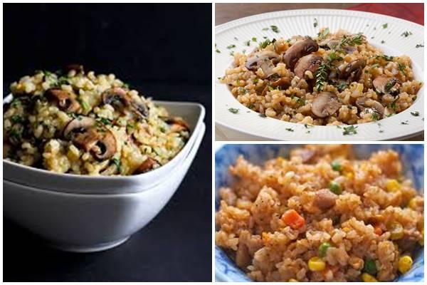 блюда из бурого риса
