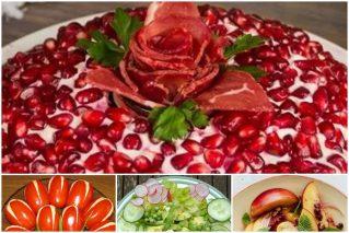 Постные салаты к весеннему празднику, в том числе к 8 Марта: рецепты