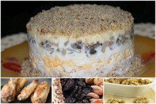 Салат «Дамский каприз» с курицей, черносливом и орехами: рецепты, советы по приготовлению и оформлению