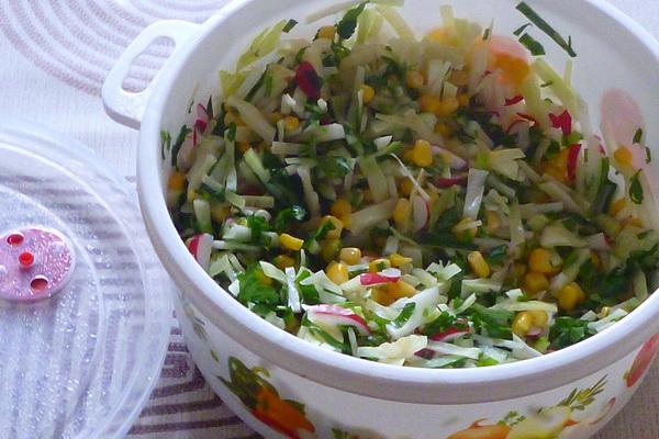 постный весенний салат