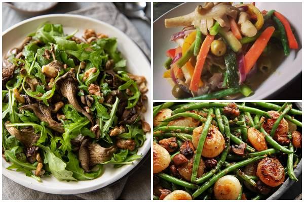 постный салат с грибами