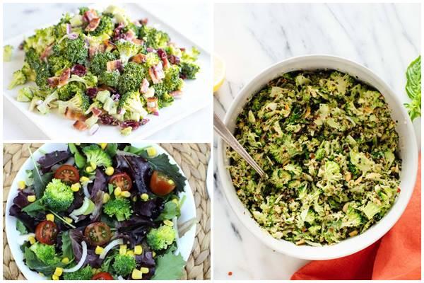 постный салат из сырой брокколи без масла для строгого поста