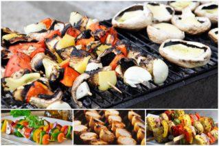 Постный шашлык из теста, грибов, овощей, фруктов и рыбы: рецепты