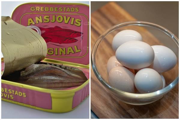 яйца с анчоусами