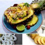 салат из ананаса и кальмара