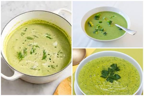 суп-пюре с брокколи и цветной капустой