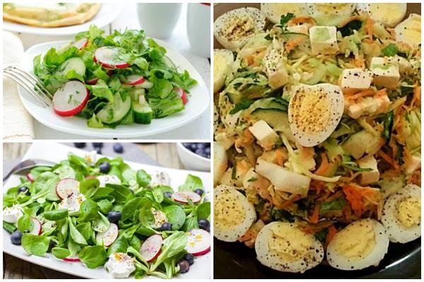 салат весенний с редисом