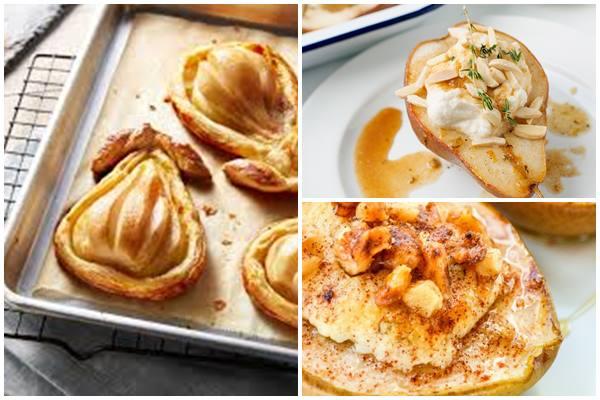 груши, запеченные с творогом или сыром