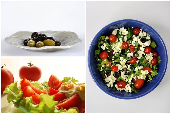 легкий салат по-гречески
