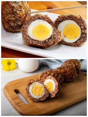 яйца по-шотландски в фарше